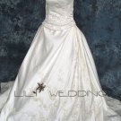 Piped Laced Wedding Dress - Style LWD0141