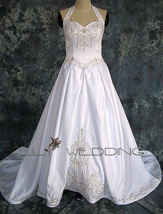Halter Neckline Wedding Dress - Style LWD0143