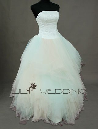 Strapless Ball Gown - Style LWD0144