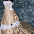 Strapless Satin Wedding Dress - Style LWD0149