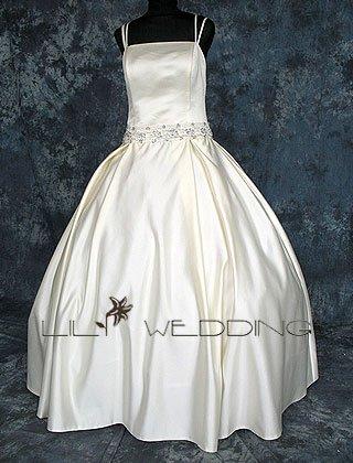 Spaghetti Straps Wedding Dress - Style LWD0151