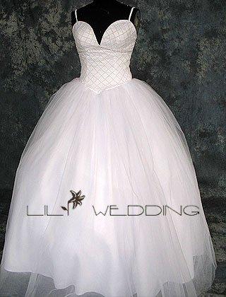 Satin&Organza Wedding Dress - Style LWD0155