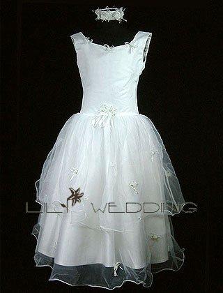 White Flower Girl Dress - Style LFG0010