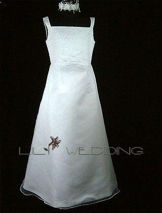 Square Neckline Flower Girl Dress - Style LFG0013