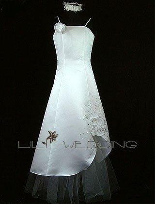 Spaghetti Straps Flower Girl Dress - Style LFG0016