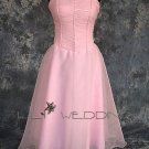 Satin Organza Bridesmaid Dress - Style LED0044