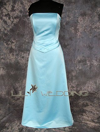 Strapless Satin Bodice Bridesmaid Dress - Style LED0047