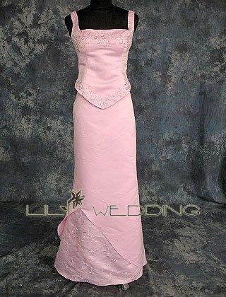 Basque Waist Bridesmaid Dress - Style LED0049