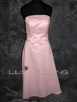 Tea Length Casual Bridesmaid Dress - Style LED0052