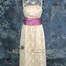 Tea Length Bridesmaid Dress - Style LED0055