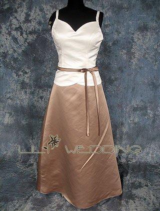 Tea Length A-Line Bridesmaid Dress - Style LED0057