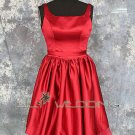 Knee Length Red Bridesmaid Dress - Style LED0061