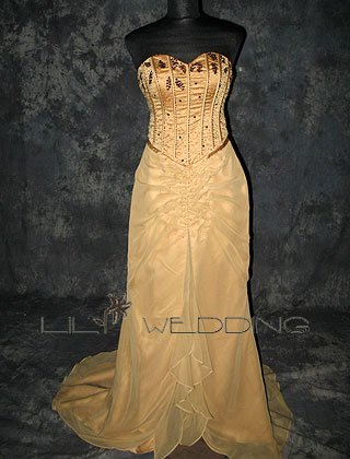 Sweep Train Bridesmaid Dress - Style LED0063