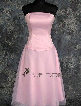 Light Pink Bridesmaid Dress - Style LED0064