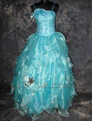 Spaghetti Straps Ball Gown - Style LED0066