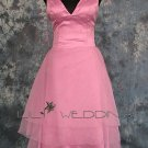 V-Neck Satin Bridesmaid Dress - Style LED0069