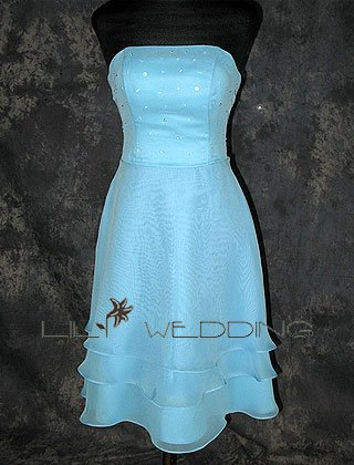Strapless Affordable Bridesmaid Dress - Style LED0070