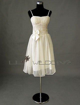 Chiffon Ivory Bridesmaid Dress - Style LED0078