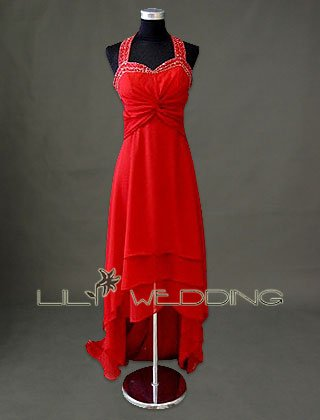 Red Sweetheart Bridesmaid Dress - Style LED0082