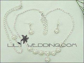 Pearl Star Rhinestone 4-Piece Jewelry Set