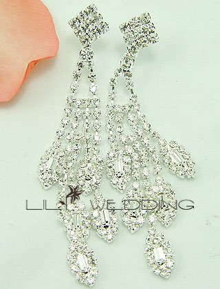 Traditional Rhinestone Drop Earrings