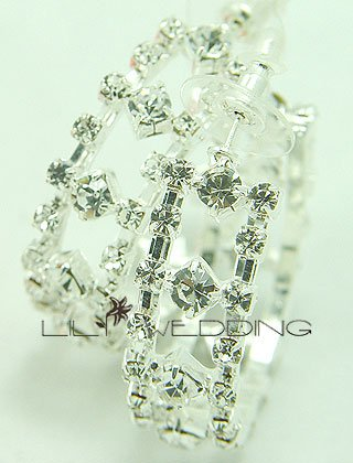 Large Rhinestone Hoop Earrings