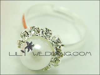 Traditional Domed Pearl Ring