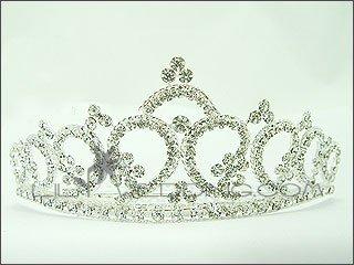 Stunning Floral Crystal Tiara