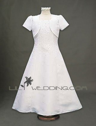 Flower Girl Dress With Matching Jacket - Style LFG0020