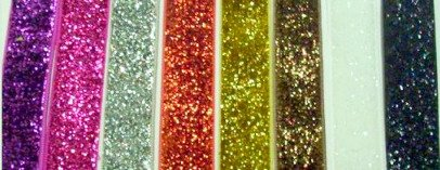 """7/8"""" glitter ribbons for hair bows scrapbooking 3 yards"""