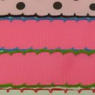 "5 yards 7/8"" moonstitch scallop edge double stitched grosgrain ribbons for hair bows scrapbooking"