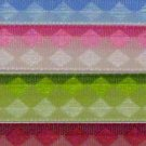 "2yd 3/8"" jacquard woven diamond argyle ribbon scrapbook"