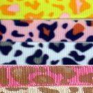 3 YARD 3/8 leopard M2MG  KITTY GLAMOUR grosgrain ribbon