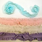 LOT 14pc Double Ruffle Headband Stretch iNFANT HAIR BOW