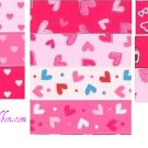2YD 7/8 Valentines DAY Grosgrain ribbon Heart print NEW