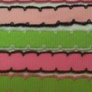 3YD 3/8 grosgrain ribbon MOONSTITCH SCALLOP EDGE dotted