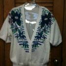 Beautiful Lucia Embellished Short Sleeved Sweater Vest Size L