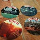 Set of Four (4) FOLGERS Coffee ATLANTA, GA Coasters 1970-1980??