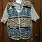Beautiful Teddi Embellished S/S Summer Sweater Vest Size L L@@K!!!