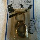"""Vintage EZ """"D"""" Buckle Rings 3/4"""" - 5 Packages - Total 30 Rings"""