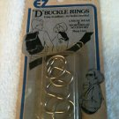"Vintage EZ ""D"" Buckle Rings 1/2"" - 2 pkg of 6 each"