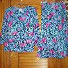 Vintage Ladies Misses Womens 2 Pc Skirt Top Outfit Sz 8