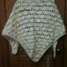 Ladies Beautiful Hand Crocheted Ecru / Off White Shawl Wrap Scarf