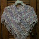 Little Girls Hand Crocheted Shawl Cape Poncho