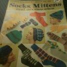 Vintage Coats & Clark's Socks, Mittens/Accessories Book # 163 (1965) Knit & Croc