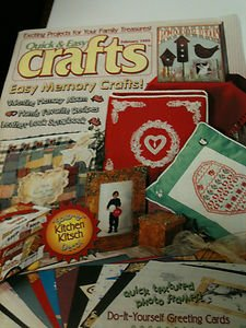 2 Quick & Easy Crafts Magazines - 4/1991 & 2/1999