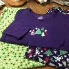 Ladies Womens Pajamas, 2 bottoms, 1 Top - Size Large (12-14)