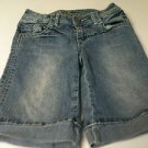 Girls Cato Premium Denim 5 Pocket Embellished Cuffed Shorts - Size 7