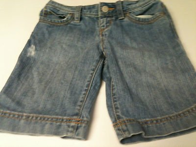 Girls Old Navy Denim 5 Pocket Shorts - Size 8 - Distressed Look