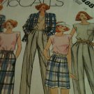 Easy McCall's Jacket, Top, Skirt, Pants, Shorts Pattern #2488 - Misses Size 16